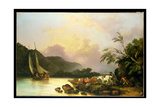 Belle Isle, Windermere, in a Calm, 1786 Giclee Print by Philip James De Loutherbourg