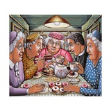 The Curate Taking Tea with the Ladies, 2009 Giclee Print by P.J. Crook