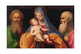 Virgin and Child with Saint Simon and Saint Jerome Giclee Print by Giovanni Agostino Da Lodi