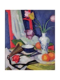 Still Life with Tulips, 1925 Giclee Print by Samuel John Peploe