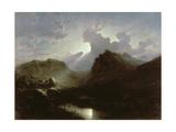 Deer Forest, Skye, Summer Moonlight Giclee Print by Waller Hugh Paton