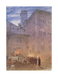 Religious Procession, Lucca, Tuscany Giclee Print by Albert Goodwin