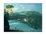 The City Weir, Bath, Looking Towards Walcot Giclee Print by Thomas Ross