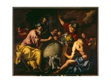 Abraham Teaches Geography to the Egyptians Giclée-tryk af Antonio Zanchi