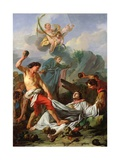 Martyrdom of St. Stephen, 1745 Giclee Print by Jean Baptiste Marie Pierre