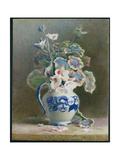 Geraniums in a China Jug, 1875 Giclee Print by Hector Caffieri