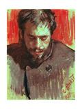 Portrait of Alexander Benois (1870-1960) 1894 Giclee Print by Leon Bakst