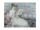 The Morning Paper, c.1890-91 Giclée-Druck von Sir James Guthrie