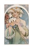 Alphonse Mucha - Flower, 1897 Digitálně vytištěná reprodukce