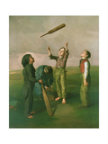 Tossing for Innings, c.1841 Giclee Print by Robert James