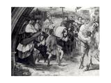 Pope Leo I (C.390-461) Repulsing Attila (C.406-453) 1511-14 (Detail) Reproduction procédé giclée par  Raphael