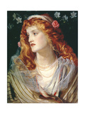 Portrait of a Woman with Red Hair Giclee Print by Anthony Frederick Augustus Sandys