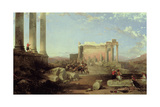 The Ruins of the Temple of the Sun at Baalbec, 1861 Giclee Print by David Roberts