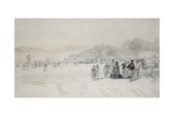 Balmoral Vs Abergeldie: Cricket Match at Balmoral, 1881 Giclee Print by William 'Crimea' Simpson
