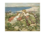 Sea Shore Roses Giclee Print by Edward Atkinson Hornel