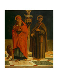 Saint Jerome and Saint Francis of Assisi Giclee Print by Giovanni Di Niccolo Mansueti