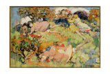 Children at Play Giclee Print by Edward Atkinson Hornel