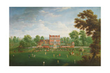 Cricket Match at Kenfield Hall, c.1760 Giclee Print by  English School