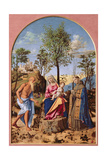 Madonna of the Orange Tree with St. Ludovic of Toulouse and St. Jerome, 1496-98 Giclee Print by Giovanni Battista Cima Da Conegliano