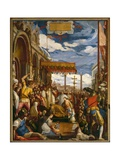 Federico Barbarossa Pays Homage to Pope Alessandro III Giclee Print by Or Zuccaro, Federico Zuccari