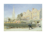 Norwich and the Chimney Sweep, 1923 Giclee Print by Albert Goodwin