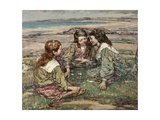 Playmates, 1908 Giclee Print by Edward Atkinson Hornel
