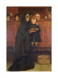 In Church, 1869 Giclee Print by Claude Andrew Calthrop