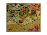 Still Life with a Basket of Vegetables Giclee Print by George Leslie Hunter