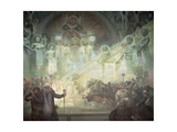 Holy Mount Athos, from the 'Slav Epic', 1926 Giclee Print by Alphonse Mucha
