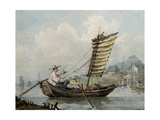 Chinese Sailor Smoking in His Junk, 1795 Giclee Print by William Alexander