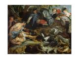 Hunting a Wild Boar, c.1615-16 Giclee Print by Peter Paul Rubens