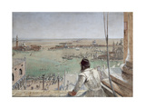 The Basin of San Marco from the Campanile, Venice, 1862 Giclee Print by William Bell Scott