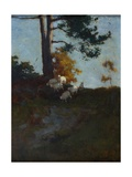 Hillside with Sheep Giclee Print by Charles Hodge Mackie