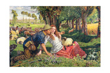 The Hireling Shepherd Giclee Print by William Holman Hunt