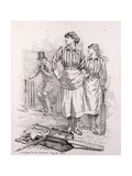 Women's Cricket, 1892 Giclee Print by Edward Linley Sambourne