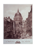 St Martin's Le Grand, the Site for the New Post Office, Engraved by J. Bailey Giclee Print by Thomas Girtin
