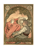 Poster Advertising the 'Societe Populaire Des Beaux-Arts, 1897 Giclee Print by Alphonse Mucha