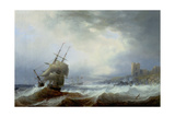 Ships Beating Off a Lee Shore Giclee Print by John Wilson Carmichael