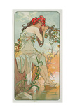 The Seasons: Summer, 1896 Giclee Print by Alphonse Marie Mucha