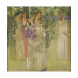 The Procession of St Agnes Giclee Print by David Gauld