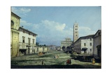 The Piazza San Martino and the Duomo, Lucca, c.1747 Giclee Print by Bernardo Bellotto
