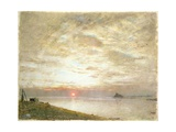 Mounts Bay, Cornwall Giclee Print by Albert Goodwin