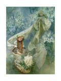 Madonna of the Lilies, 1905 Giclée-tryk af Alphonse Mucha