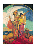 National Colonial Exhibition, Marseille, 1922 Giclee Print by David Dellepiane