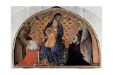 Madonna and Child with SS. Francis, Elizabeth with the Doge F. Dandolo and His Wife Giclée-Druck von Paolo Veneziano