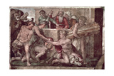 Sistine Chapel Ceiling (1508-12): The Sacrifice of Noah (Pre Restoration) Giclee Print by  Michelangelo Buonarroti
