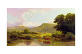 Scene on the River Conwy, Betws-Y-Coed, North Wales, 1880 Giclee Print by Edward Henry Holder