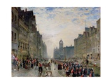 The High Street, Edinburgh Giclee Print by Samuel Bough