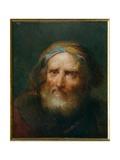 Old Bearded Man Giclée-tryk af Giuseppe Nogari
