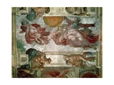 Sistine Chapel Ceiling: Creation of the Sun and Moon, 1508-12 Giclee Print by  Michelangelo Buonarroti
